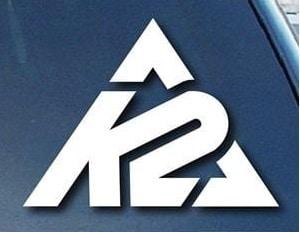 K2 Sports Symbol Window Decal Sticker