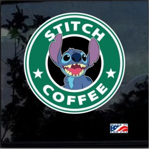Stitch Coffee Full Color Decal Sticker