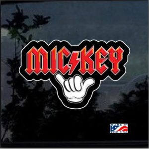Mickey Mouse Rock N Roll Full Color Decal Sticker