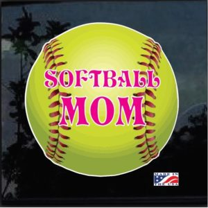 Softball Mom Full Color Outdoor Decal Sticker