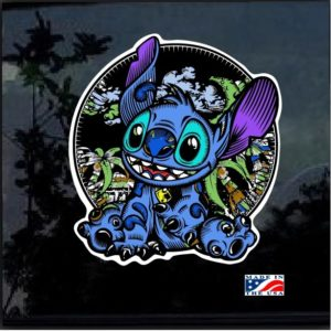 Stitch Enchanted Full Color Decal Sticker