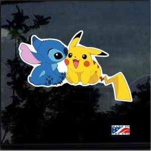 Stitch and Pikachu Full Color Decal Sticker