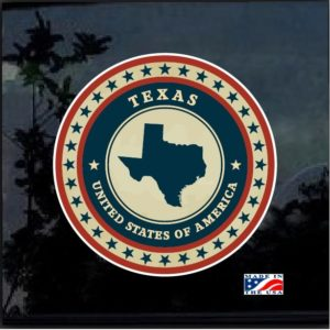 Texas Vintage State Full Color Outdoor Decal Sticker