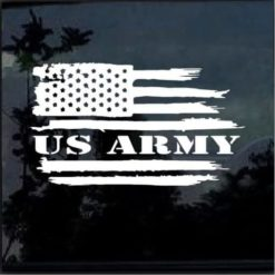 US Army Weathered American Flag Military Window Decal Stickers