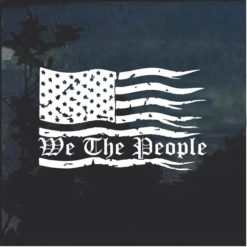 We the People Weathered American Flag a2 Truck Decal Sticker
