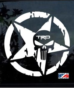 Toyota TRD Weathered Star Punisher Decal Sticker