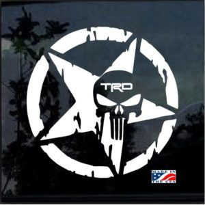 Toyota TRD Weathered Star Punisher Decal Sticker