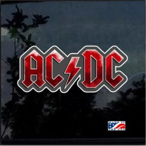 AC DC Band Full Color Decal Sticker