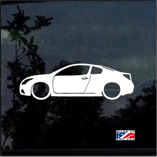 Nissan Altima Coupe Lowered Outline Window Decal Sticker Custom
