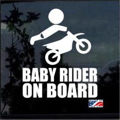 Baby Motocross Rider On Board Decal Sticker