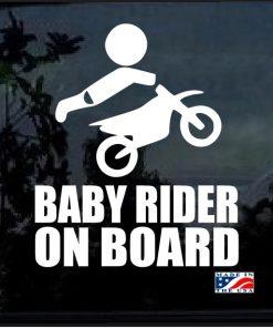 Baby Motocross Rider On Board Decal Sticker