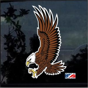 Bald Eagle Full Color Outdoor Decal Sticker