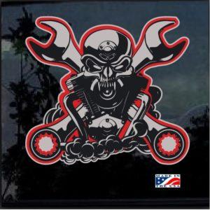 Biker Motorcycle Crest Full Color Outdoor Decal Sticker