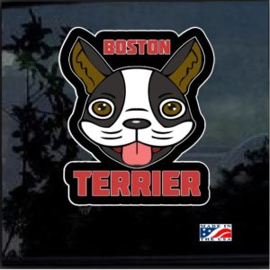 Boston Terrier Head Full Color Decal Sticker