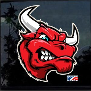 Big Red Bull Full Color 7 Inch Decal Sticker
