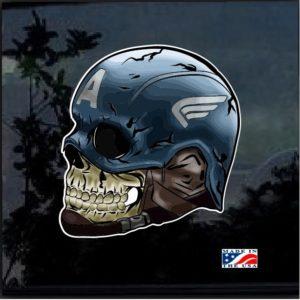 Avengers Captain America Skull Full Color Decal Sticker