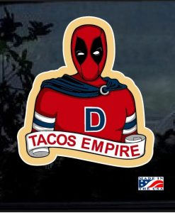 Deadpool Tacos Empire Full Color Decal Sticker