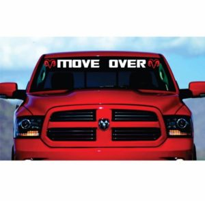 dodge move over windshield decal sticker
