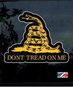 Don't Tread On Me Gadsden Flag Full Color Decal Sticker