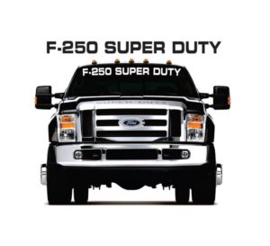 f250 super duty windshield decal sticker