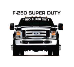 f250 super duty windshield decal sticker