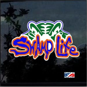 Swamp Life Florida Gators Full Color Decal Sticker
