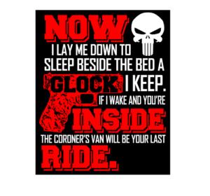 Now I lay Me down To Sleep Glock Decal Sticker