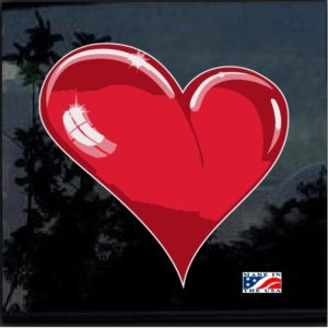 Heart 3d Full Color Decal Sticker