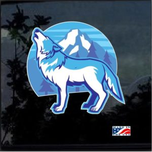 Howling Wolf Full Color 7 Inch Decal Sticker