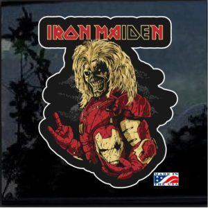 Iron Maiden Iron Man Full Color Decal Sticker