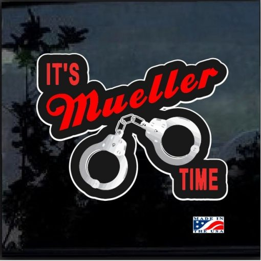 Its Mueller Time Hand Cuffs Full Color Decal Sticker