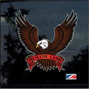 American Eagle Molon Labe Color Outdoor Decal Sticker