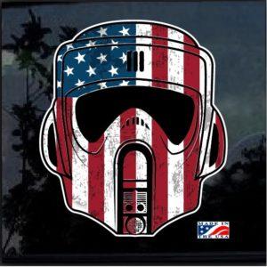 Storm Trooper Patriotic Flag Full Color Decal Sticker