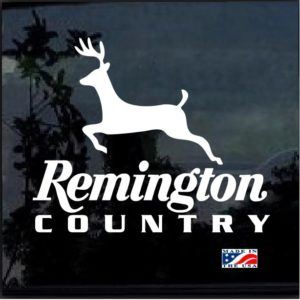 Remington Country Deer Hunter Decal Sticker