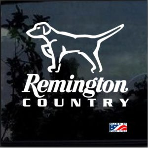 Remington Country Hunting Dog Pointer Decal Sticker