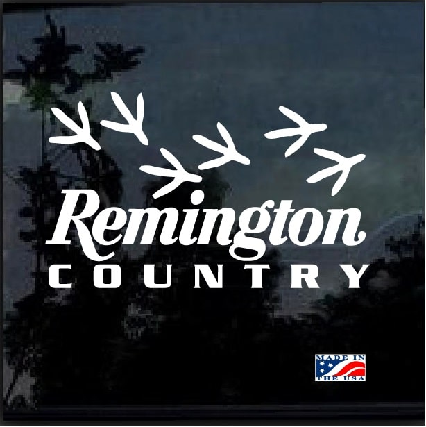 Remington Country Tracks Hunting Window Decal Sticker