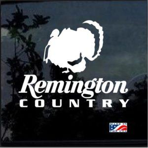 Remington Country Turkey Hunter Decal Sticker