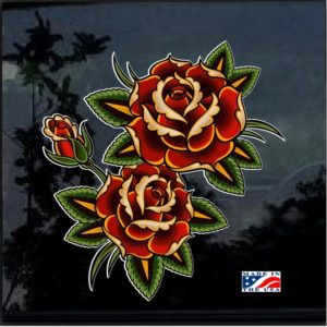 Rose Roses Full Color 7 Inch Decal Sticker