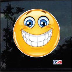 Smiley Emoticon Full Color Outdoor Decal Sticker