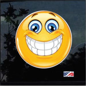 Smiley Emoticon Full Color Outdoor Decal Sticker