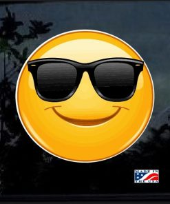 Smiling Emoticon Full Color Outdoor Decal Sticker