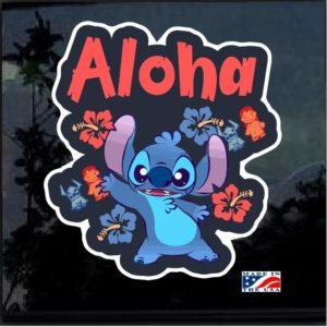 Lilo's Stitch Aloha Full Color Decal Sticker