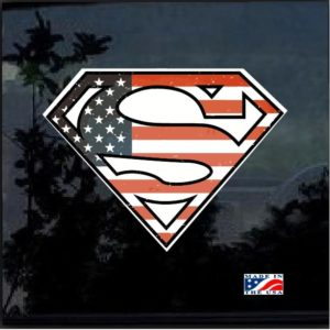 Superman Flag Full Color Decal Sticker