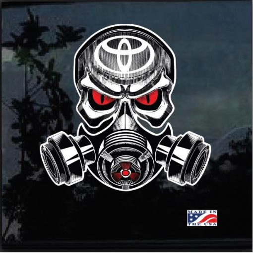 Toyota Skull Gas Mask Full Color Outdoor Decal Sticker