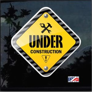 JDM Under Construction Full Color Outdoor Decal Sticker