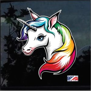 Unicorn Full Color Outdoor Decal Sticker