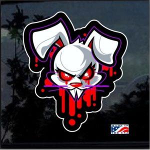 Vampire Bunny Full Color Decal Sticker