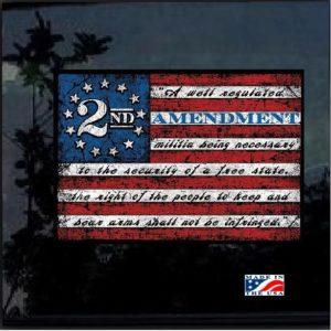 2nd Amendment Flag Full Color Decal Sticker