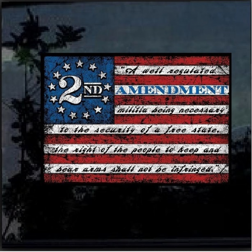 2nd Amendment Flag Full Color Decal Sticker