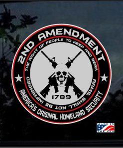 2nd Amendment Original Homeland Security Decal Sticker
